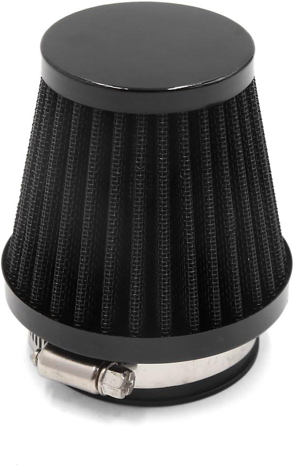 sourcing map 48mm Boquilla Negro Filtro de Aire Fr/ío de Admisi/ón Moto con Abrazadera Regulable