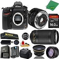 Great Value Bundle for D810 DSLR – 50MM 1.8D + 70-300MM AF-P + 16GB Memory + Wide Angle + Telephoto Lens + Case