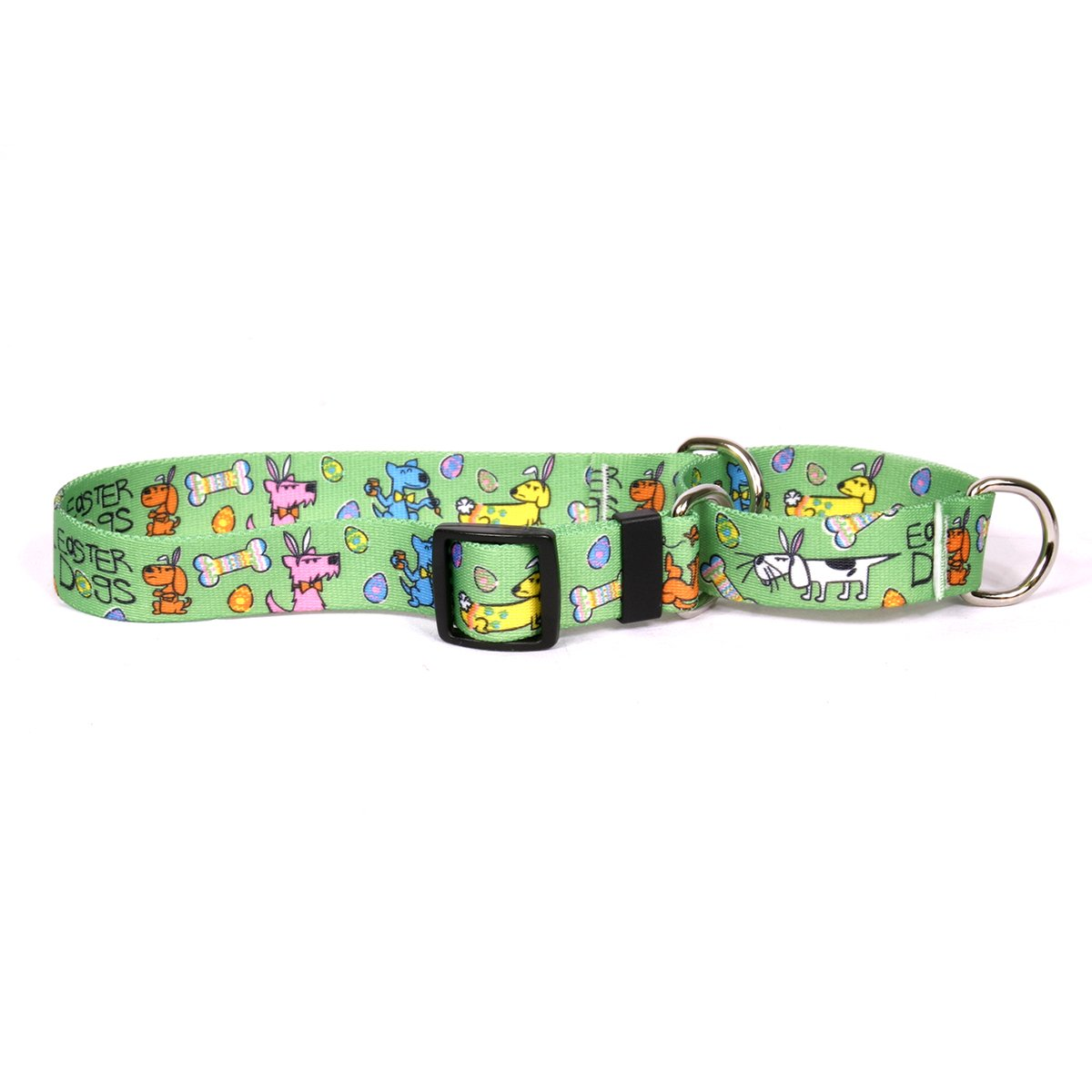 Yellow Dog Design Easter Dogs Martingale Dog Collar Fits Neck 9 To 12'', X-Small/3/4