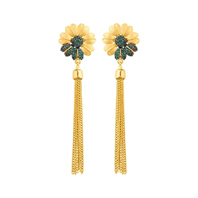 e001e5497 Buy Voylla Emerald Daisy Antara Tassel Earrings Jewelry Gift For Her, Girl,  Women, Mother, Sister, Girlfriend, Party Wear, Daily Wear Online at Low  Prices ...