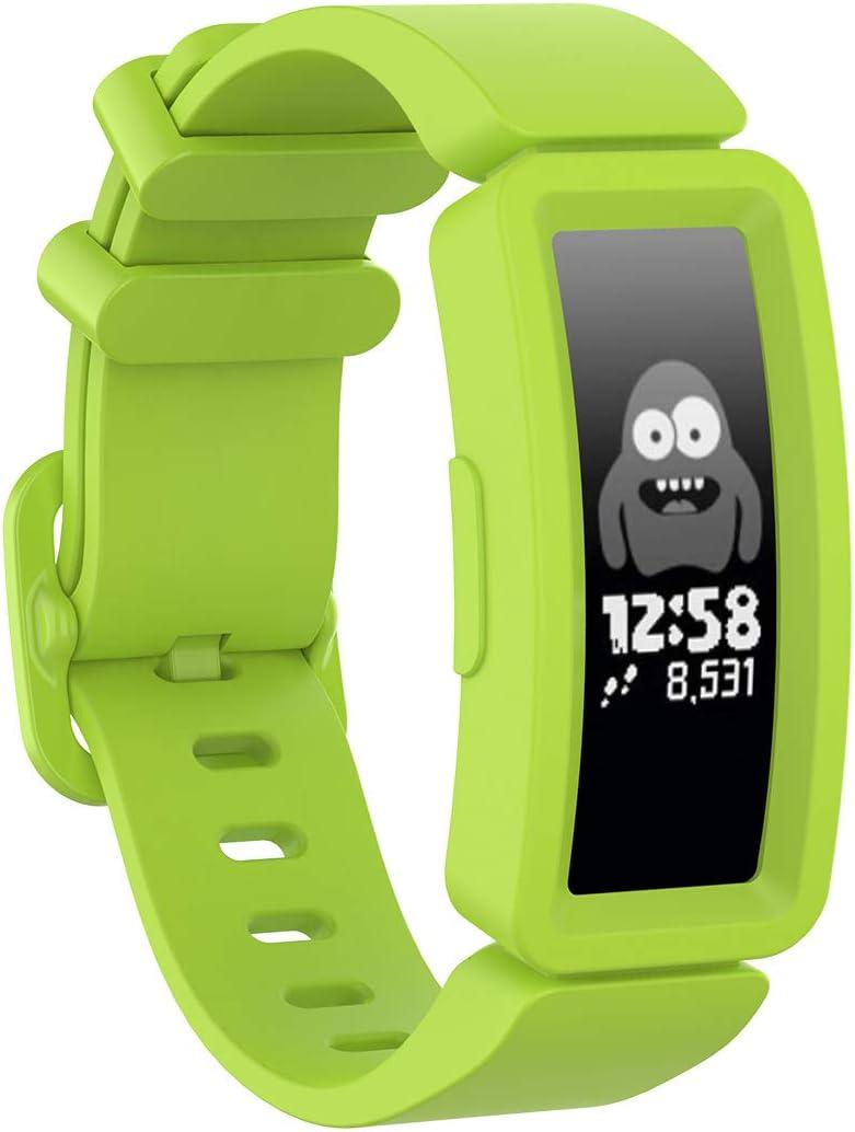 Ruentech Armb/änder Kompatibel mit Fitbit Ace 2 Activity Tracker Armband Kinder Ersatz-Silikonband Kompatibel mit Fitbit Ace 2 Fitness Tracker Kids Uhrenarmb/änder