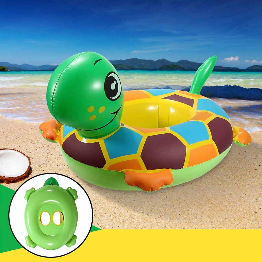 ZFFMSS Load-Bearing 11Kg 62 X 51.5 X 13.5cm Baby Kids Inflatable Tortoise Baby Kids Toddler Infant Swimming Float Seat Boat Pool Ring by ZFFMSS
