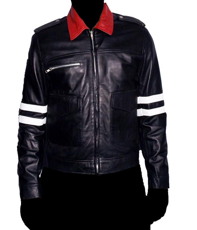 HLS Men's Prototype Dragon Soft Faux Black Leather Jacket