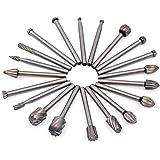 20Pcs 3mm Stinco Fresa Rotante - GOXAWEE HSS Frese Routing Legno Fresatura Frese per Dremel/Accessori per Utensili Rotanti/Fai-Da-Te Incisione Punte per Legno Lavorazione