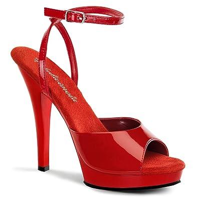 0abde224ad56a8 Fabulicious Lip-125 - sexy High Heels Mini-Plateau Sandaletten 35-43 ...