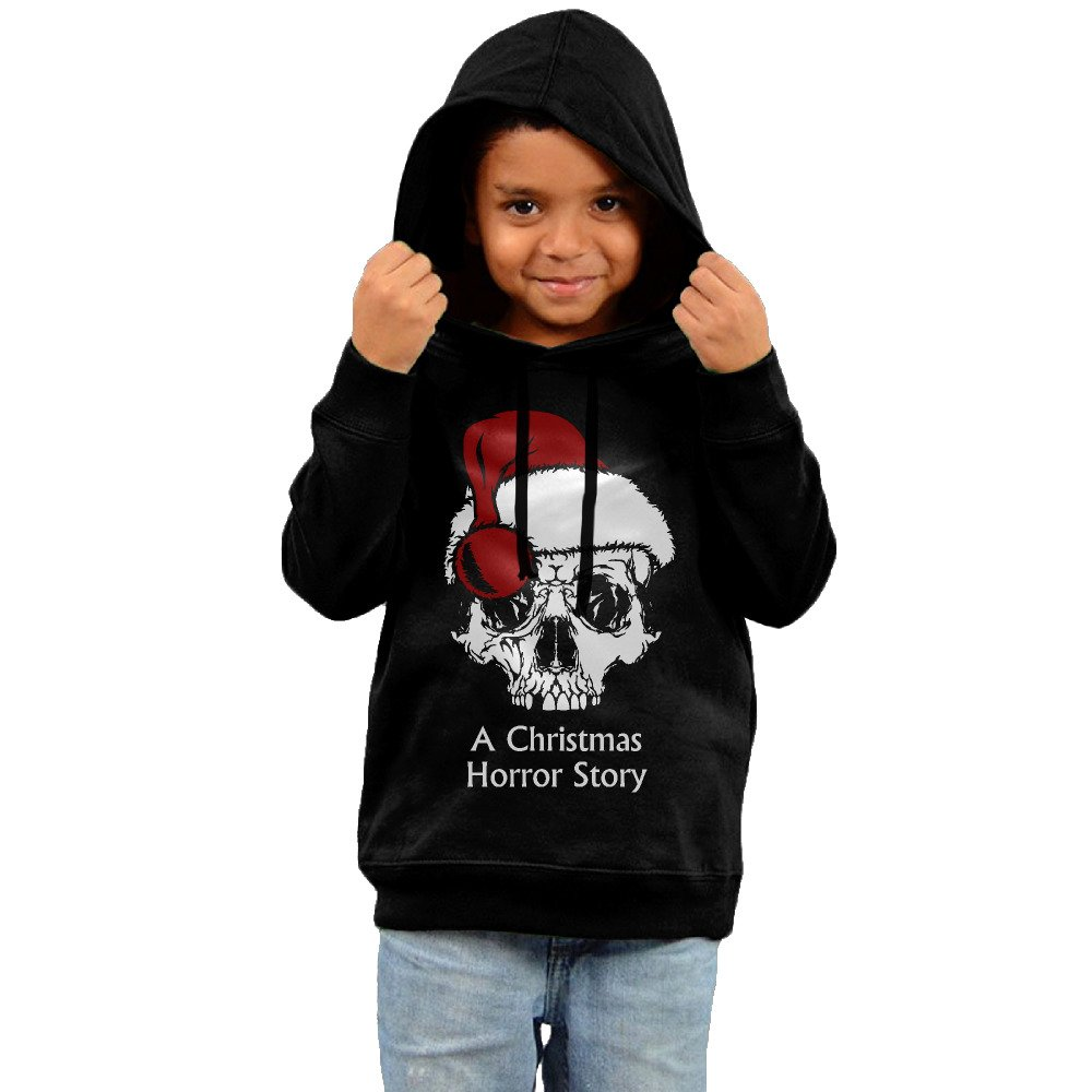 Fancy Kids Christmas Horror Story Skull With Hat Hoodies Warm Cotton Drawstring