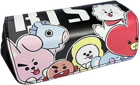 Youyouchard Kpop BTS Bangtan - Estuche para lápices de gran capacidad con doble cremallera: Amazon.es: Juguetes y juegos