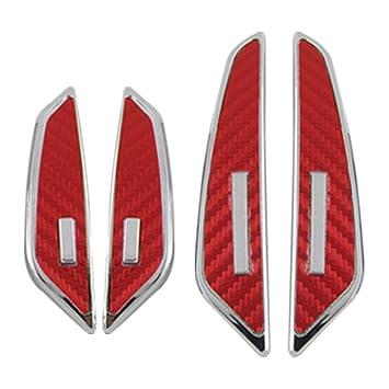 sourcingmap 4Pcs Rojo Esterilla Inyectores Coche Puerta Adhesivo Protección Escudo: Amazon.es: Coche y moto