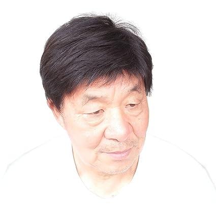 La vieja peluca corta madura del padre del hombre negro de la edad media natural como