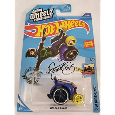 Hot Wheels 2020 Hw Ride-Ons Aaron Wheelz Fotheringham Wheelie Chair, Blue 22/250: Toys & Games