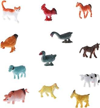 12pcs figures de modèle en plastique d/'animaux de la faune jouet éducatif