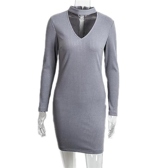 DaveDu apparel outono sexy halter malha dress inverno mulheres elegantes bodycon dress casual vestidos curto vestidos