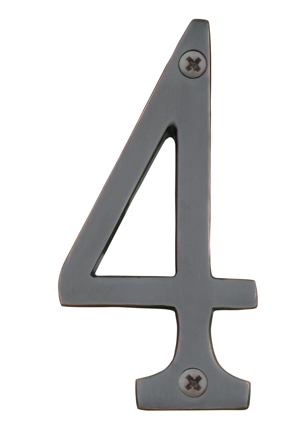 Knoxx Hardware BBB4N604 Oil Rubbed Bronze Address Numbers Traditional 4'' Numeral 4