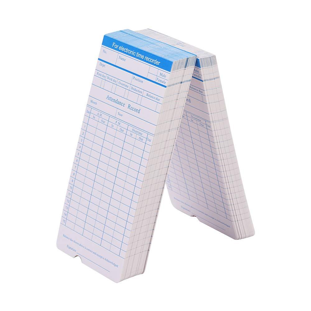 pack Festnight DOYO Time Card formato mensile fronte//retro formato 7.4 100pcs 3.3 pollici per la macchina del registratore dellorologio di tempo dei dipendenti di presenza vari