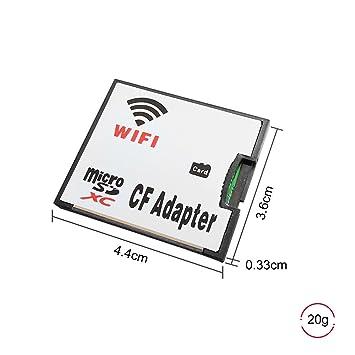 QUMOX Adaptador Tarjeta Micro SD TF a WiFi CF CompactFlash para ...