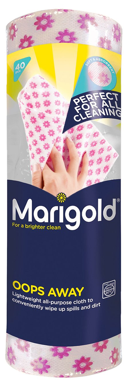 Marigold Oops Away Lightweight Cloths on a Roll, Pack of 5