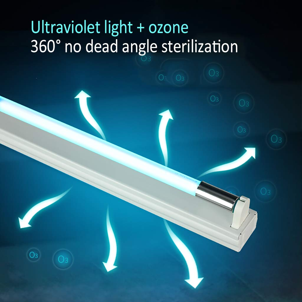 Wardrobe Disinfection Lamp UV Sterilization Lamp Portable UV Decontamination Sterilization Antibacterial Cleans Air Pet Areas Etc. Toilet