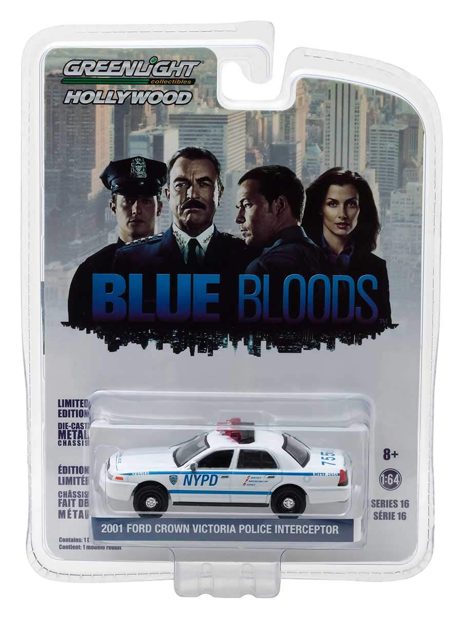 Greenlight Hollywood Limited Edition Blue Bloods 2001 Ford Crown Victoria Police Interceptor