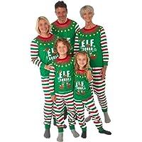 Conjunto de Pijamas navideños a Juego con la Familia, Pijamas navideños de Elf Squad para bebés, niños, niñas, Parejas…