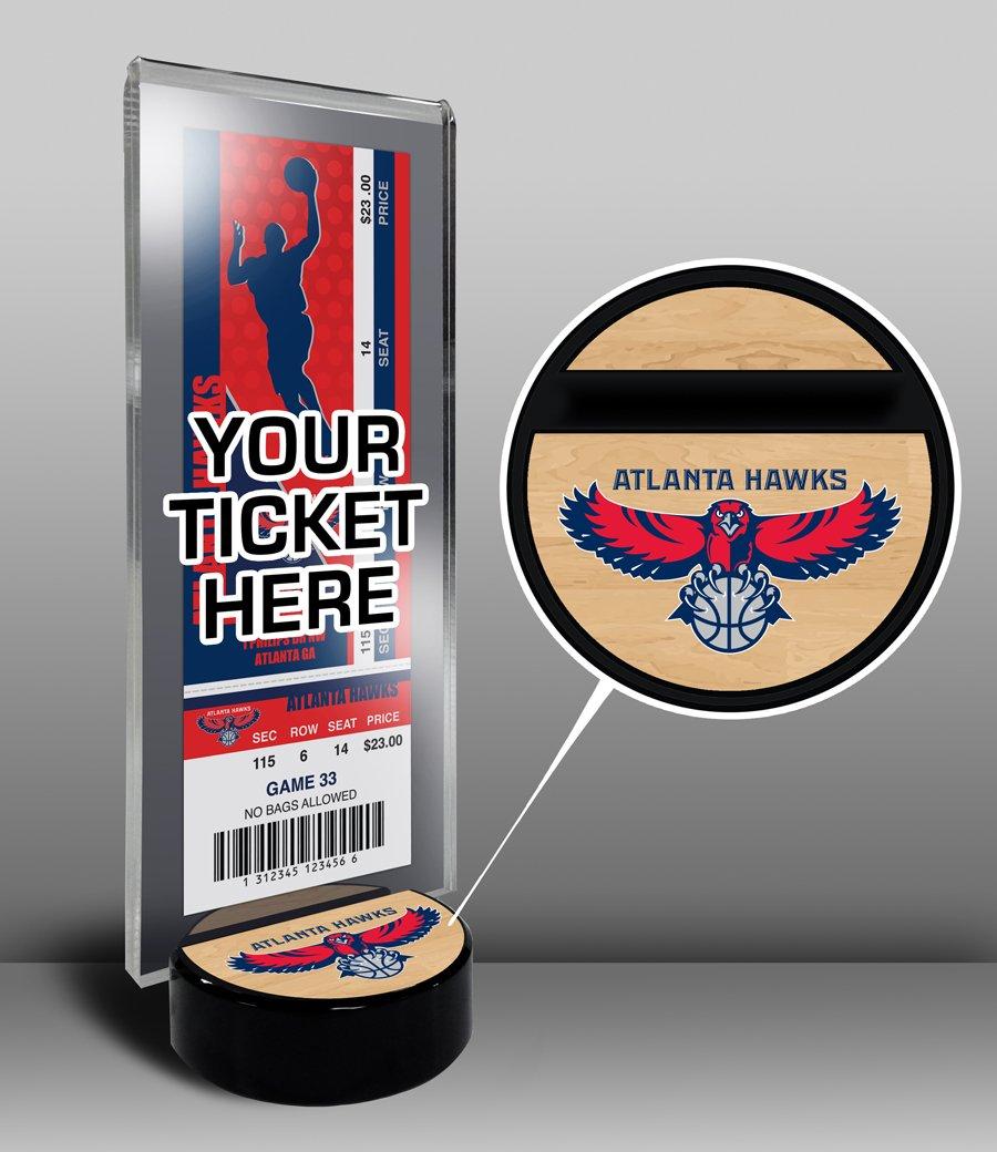 NBA Atlanta Hawks Ticket Display Stand, One Size, Multicolored