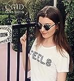 CGID E71 Retro Steampunk Style Inspired Round Metal Circle Polarized Sunglasses for Women Men