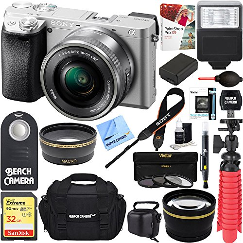 Sony a6300 4K Mirrorless Camera w/16-50mm Power Zoom Lens  +