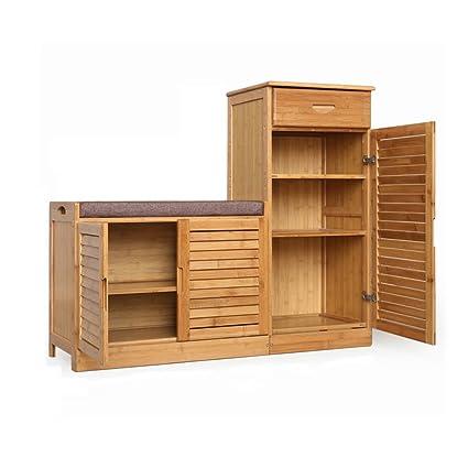 Scaffali portascarpe FEIFEI Scarpiera Scarpiera in legno Cabinet in ...