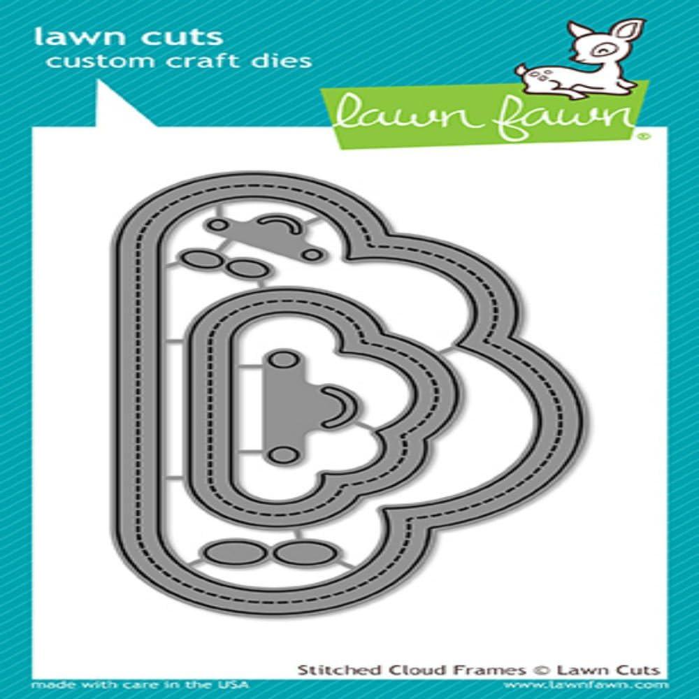 pelouse Coupes Personnalis/ées Craft Lawn Fawn pelouse Fauve Die Cousu Cloud Frames Lot DE 6/