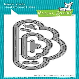 Lawn Fawn Lawn Cuts Custom Craft Die - LF1717 Stitched Cloud Frames
