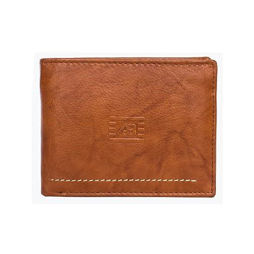 Cartera billetera de hombre en piel con monedero marca Anna & Robert colección Barcelona (cuero
