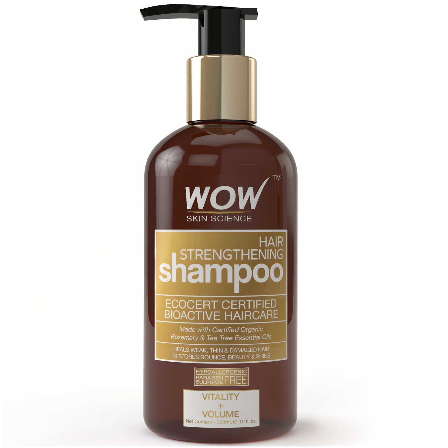 WOW Hair Strengthening No Sulphate & Parabens Shampoo, 300mL product image