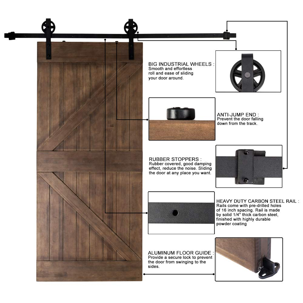 Amazon Bonnlo Antique Sliding Barn Door Hardware Kit For Closet
