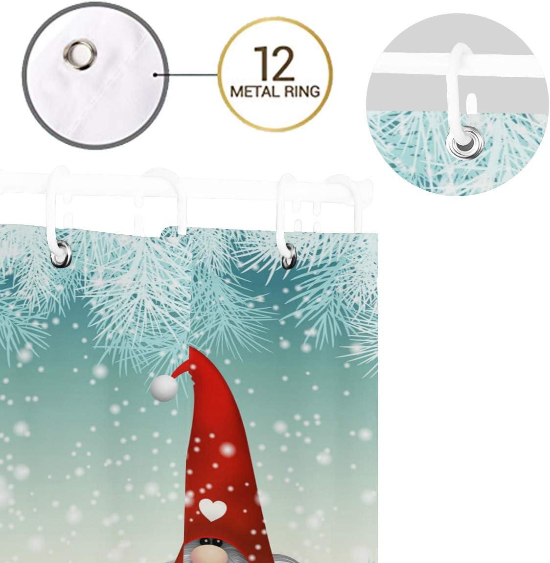 Merry Xmas Snowflake Weihnachten Schmaler Duschvorhang