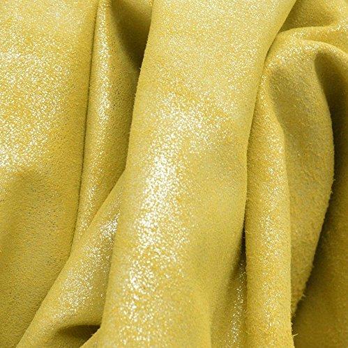 ファッションレザーItalian Calf非表示7.2sf Lemon Meringue 1 1 /2ozグリッタースエード- 5 B07CP6KTNY