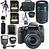 Canon EOS Rebel T6s DSLR Camera with 18-135mm Lens + Canon EF-S 55-250mm Lens + 58mm Wide Angle Lens + 58mm 2x Lens + Canon 100ES EOS Shoulder Bag Bundle
