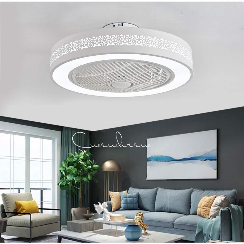 Yc Light fan L/ámpara LED de Techo Ventiladores para el Techo con l/ámpara Moderna Redondo Control Remoto de Correa Regulable Iluminaci/ón de Techo Interior Dormitorio Ventilador de Techo Luz