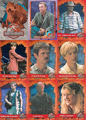 JURASSIC PARK 3 MOVIE 2001 INKWORKS COMPLETE BASE CARD SET OF 72 + 3D SPECS - Movie Trading Card Set