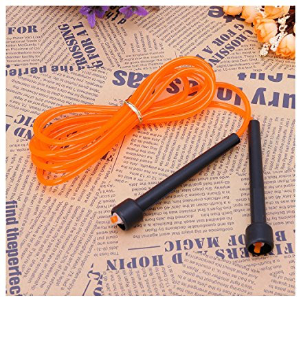 Kocome Adjustable Jumping Boxing Cardio Gym Exercise Skipping Rope Speed Fitness 2.8M (Orange)