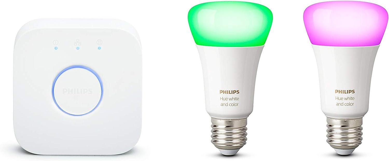 Philips Hue Kit de démarrage Ampoules LED connectées White & Color Ambiance...