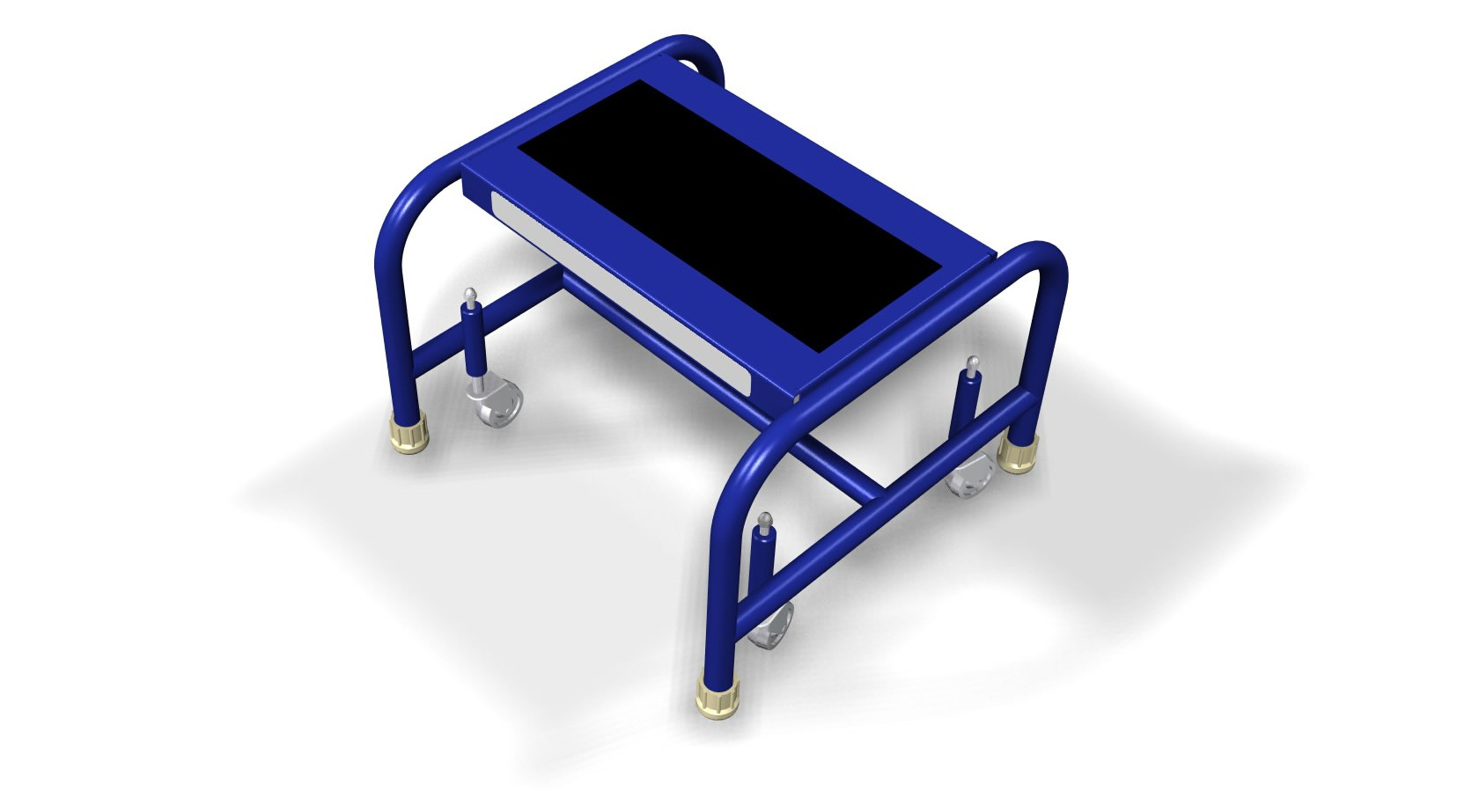 Tri-Arc WLSR001163-WM 1-Step Mobile Steel Step Stand with Anti-Slip Tread, 16-Inch Wide