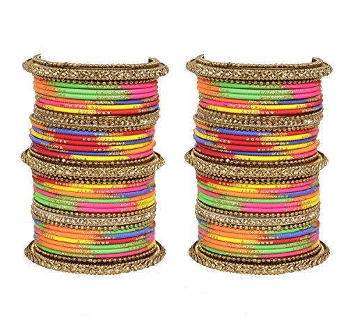 Ratna Indian Bollywood Traditional Antique golden wedding style Punjabi bangles set women jewellery (2.4) by Ratna creation