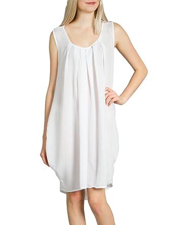 3f123e9a747 Caspar SKL011 Robe d été légère Brillante pour Femme - Robe de Plage ...