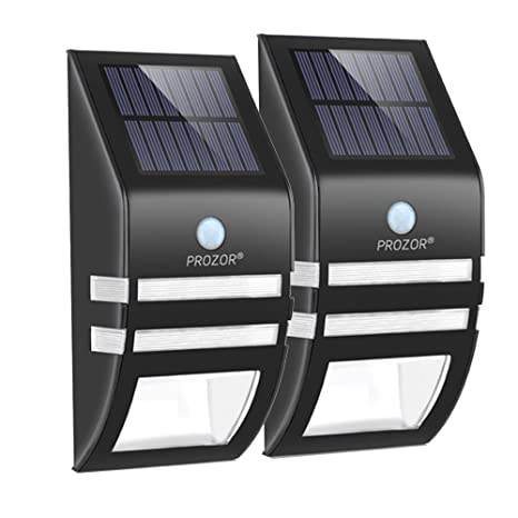 Luces Solares de Pared, PROZOR Foco Solar Exterior Impermeable con Sensor de Movimiento Lámpara Exterior