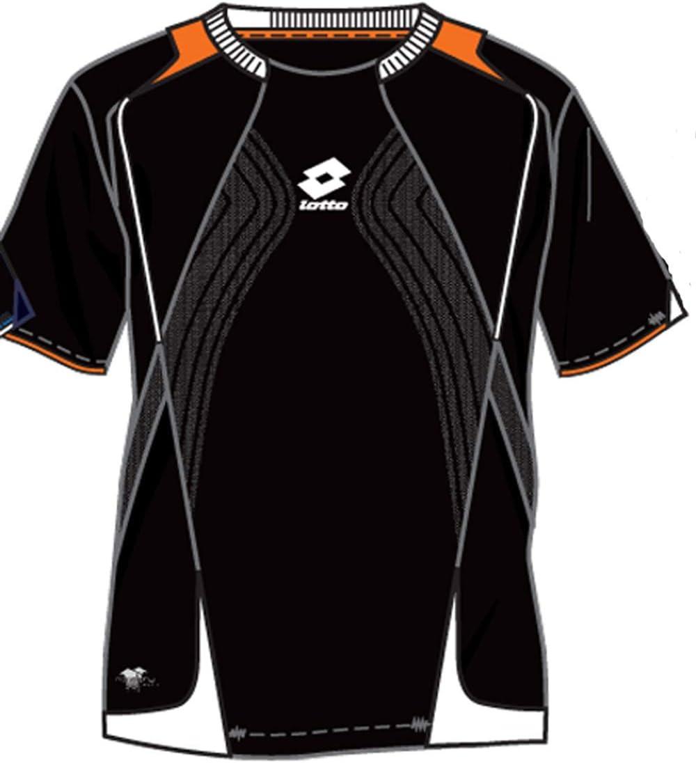 Lotto Camiseta de Epic, hombre, Negro/Naranja
