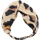 Haarbands,Sasstaids Boho Leopard Twist Knoten Stirnband elastische Wrap Turban Haarband Yoga Sport Damen