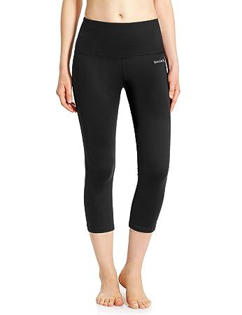 Amazon.com : Baleaf Women's High Waist Yoga Capri Leggings Tummy ...