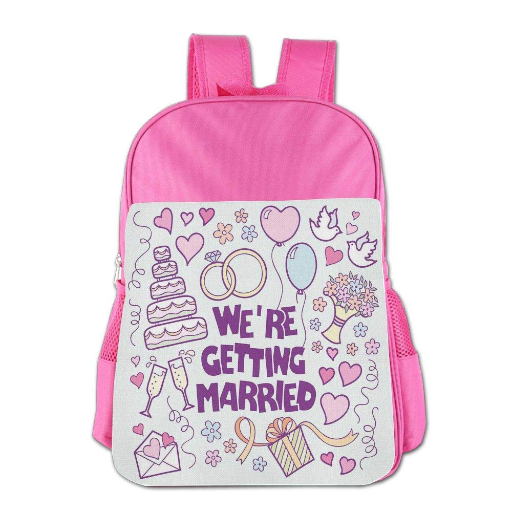 Haixia Kids' Boys'&Girls' Backpack Wedding Decorations were Getting Married Happy Celebration Ceremony Collection Doves Full Purple Blue Pink