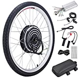 Pinty FT0500 26' Front Wheel 36V 500W Ebike Hub Motor Conversion Kit with Dual Mode Controller for Electric Bicycle Bike, Up to 17-19 MPH