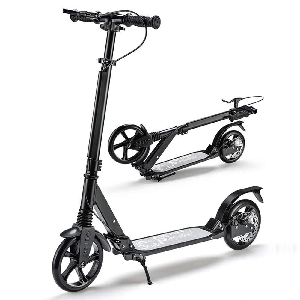 City Commuter Scooter, 2 Ruote Regolabili in Altezza Leggero Pieghevole Deluxe Kick Scooter per Big Kids Ragazzi Ragazze Adulto -Adatto per Altezze di 1,3-1,85 Metri