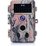 "[2018 New] Trail Camera 16MP 1080P No Glow No Flash Night Vision Wildlife Hunting Game Camera with 2.4"" LCD 120° PIR Sensors 0.2s Trigger Time Motion Activated IP66 Waterproof Protected"